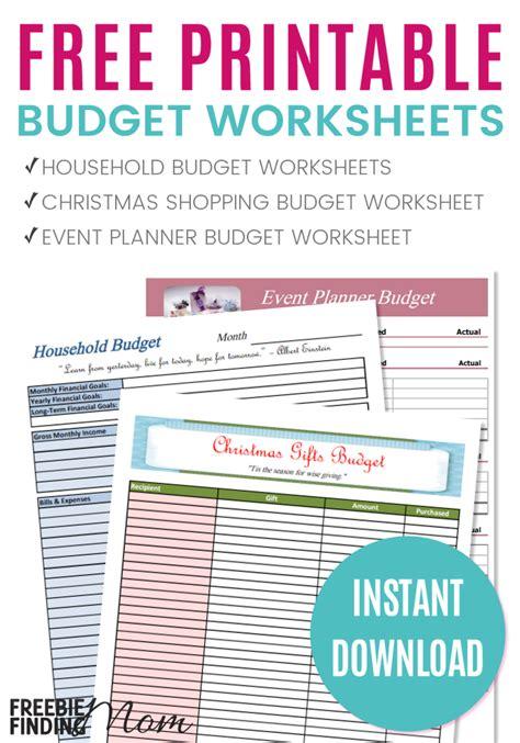 printable  budget worksheets money saving mom