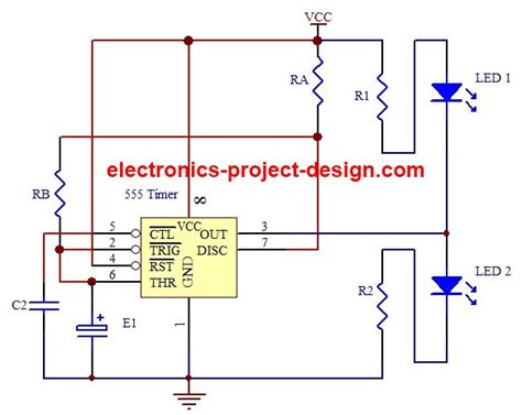 led flasher project   timer ic