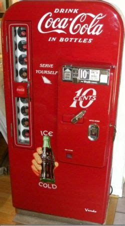 vintage coca cola soda vending machinesput money   pull   cokethere