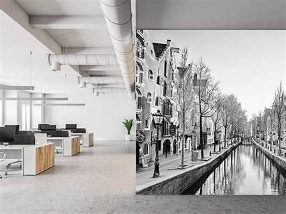 Amsterdam Wit Zwart Blanc Noir Wallexclusive Fotobehang