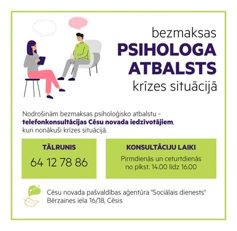 Bezmaksas psihologa atbalsts - cesis.lv