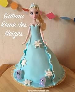 Gateau Anniversaire Reine Des Neiges : le g teau reine des neiges tutoriel vid o allo maman dodo ~ Melissatoandfro.com Idées de Décoration