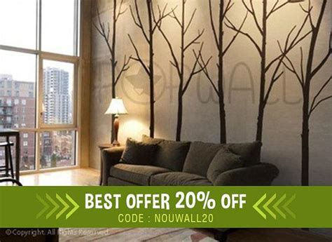 winter tree wall decal living room wall decals wall sticker
