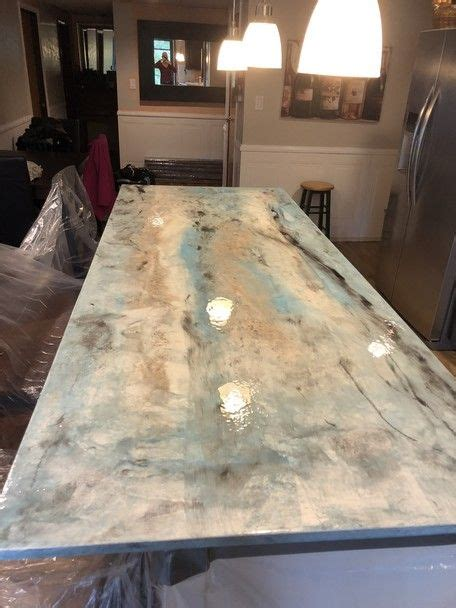 cost of diy concrete countertops three step metallic countertop kit in 2019 direct