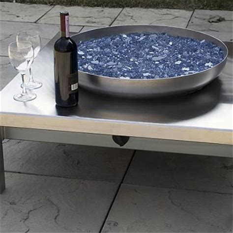 Patio Fire Pit Propane by Outdoor Decor Contemporary Stainless Steel Fire Pit