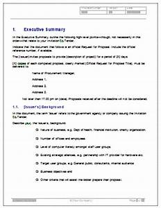 invitation to tender itt template ms word With tender specification template