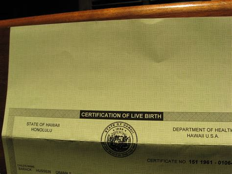 stock of obama s birth certificate business
