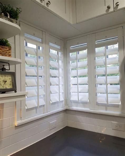 corner window   louvers flat trim plantation