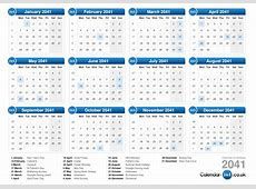 Calendar 2041