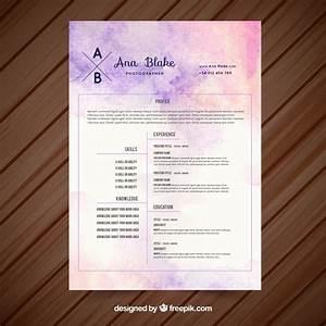 10 top free resume templates freepik blog With free cute resume templates