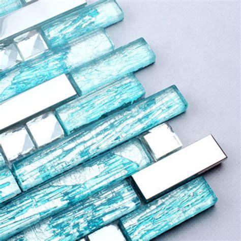 stainless steel kitchen backsplash tiles aqua glass silver metal tiles backsplash stainless