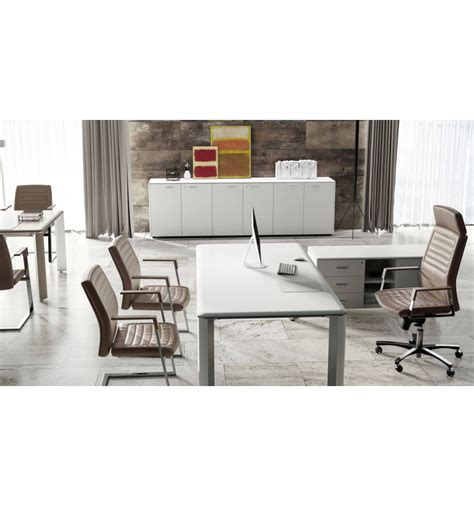 bureau direction blanc bureau de direction iulio finition bois blanc