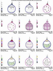 Christmas Ornaments Applique Applique Embroidery Designs