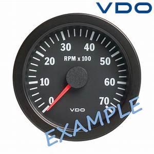 Vdo Viewline Tachometer Gauge Lcd Hourmeter 85mm 3 U0026quot  4000