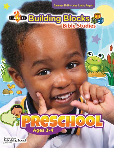 faith building blocks bible studies preschool ages 3 4 118 | Preschool CVR Sum18