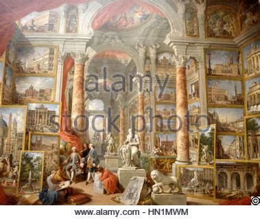 modern rome by paolo panini 1757 musee du louvre stock photo royalty free