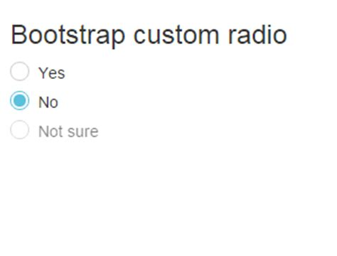 ways to use bootstrap radio buttons with 4 exles