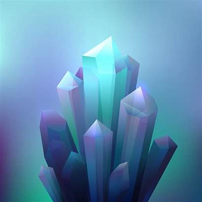 Crystal Background Minerals Vector Crystals Shape Line