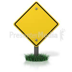 Blank Caution Signs Clip Art