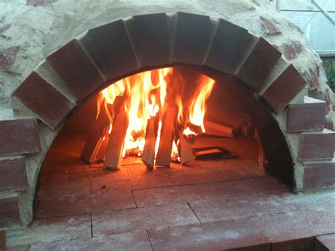 outdoor brick oven  recycled materials