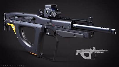 Concept Bullpup Weapon Weapons Rifle Future Edon