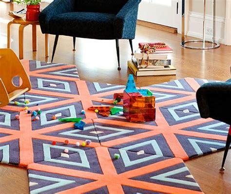 tappeto componibile pixel e punto croce design