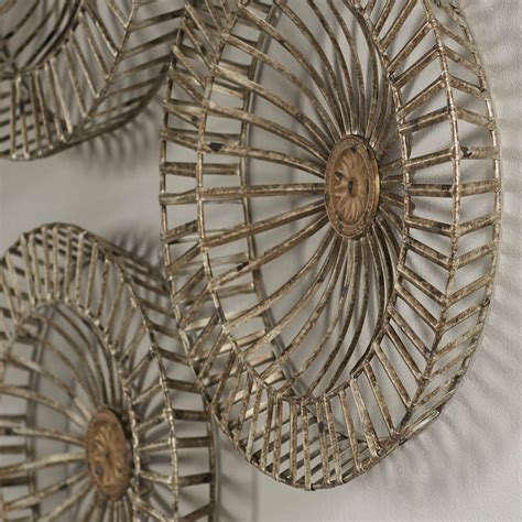 Dorm rooms tend to all look the same, so elevate your decorating by following these tips to make your room 1 set: Brayden Studio 3 Piece Metal Disc Wall Decor Set & Reviews | Wayfair