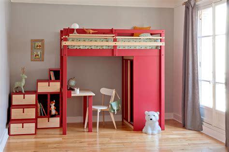 mezzanine bureau enfant chambre avec lit mezzanine 2 places chambre ado fille