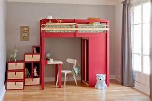 Lit Bureau Enfant : lits mezzanines jeune urbaine ~ Farleysfitness.com Idées de Décoration