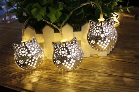 owl string lights kcasa 1 8m 10 led metal owl string lights led lights