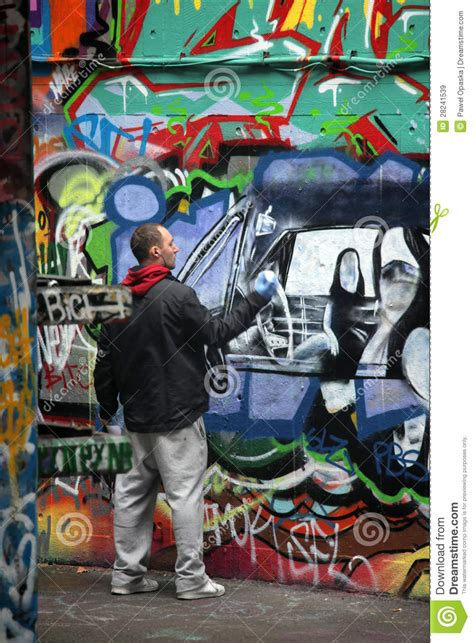 graffiti artist  work editorial stock image image