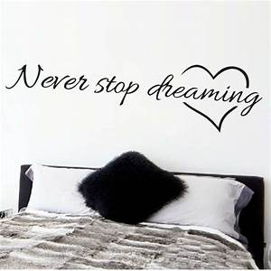Aliexpress buy never stop dreaming inspirational