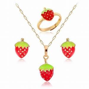 parure bijoux enfant plaque or 3 pieces quotfraisequot bijoux With parure bijoux fille