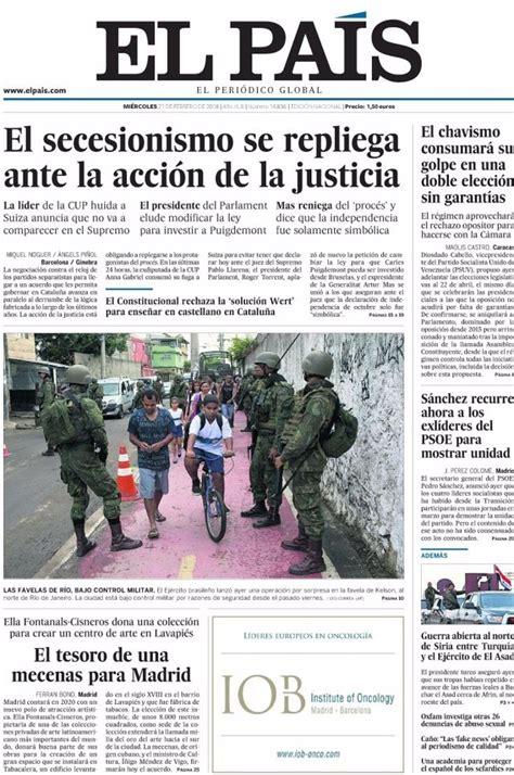 Las portadas de los periódicos de hoy, miércoles 21 de ...