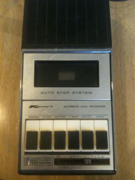 Vintage Portable Cassette Tape Player Recorder by Kmart ...