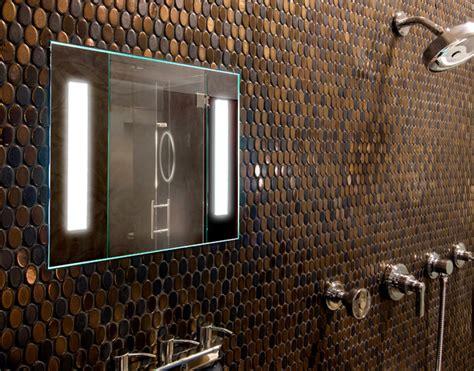 showerlite fog  mirror contemporary bathroom