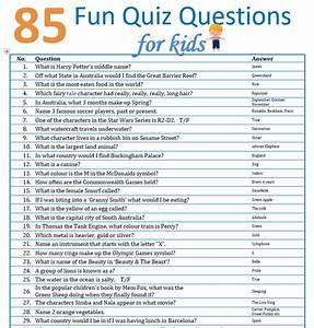 85 Fun Quiz Questions For Kids The Holidaying Family