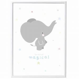 Poster Chambre Bébé : poster b b elephant gris d co chambre b b bebe ~ Teatrodelosmanantiales.com Idées de Décoration