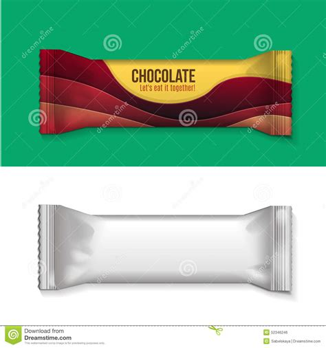 blank foil food snack stock vector image