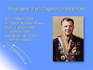 Yuri Gagarin, cosmonaut - online presentation