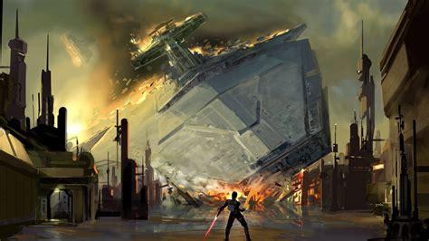 spaceship crash site walldevil