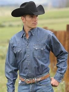 Mens Miller Ranch Mens Denim Button Down Shirt Dtw2214002