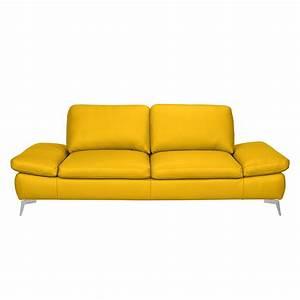 Möbel 24 Shop : sofa levy 3 sitzer echtleder safrangelb loftscape ~ Indierocktalk.com Haus und Dekorationen