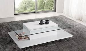 Table Basse Blanche Et Verre : table basse preston verre blanc table basse topkoo ~ Teatrodelosmanantiales.com Idées de Décoration