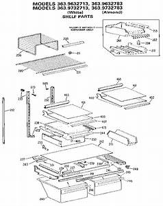 Shelf Diagram  U0026 Parts List For Model 3639332783 Kenmore