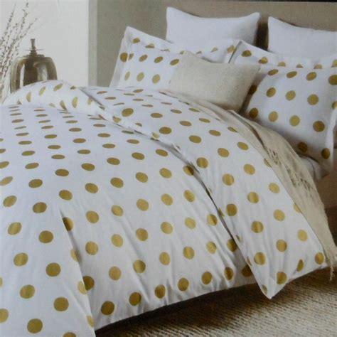 gold comforter set miller large polka dot 3pc duvet set gold on