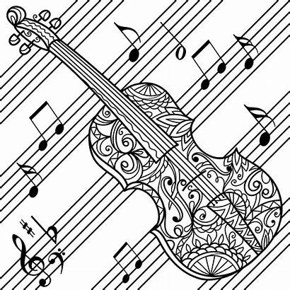 Coloring Pages Colorfly Violin Adult Sheets Adults
