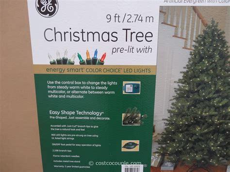 ge 9 ft prelit led christmas tree
