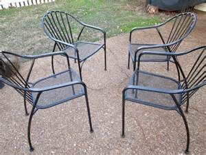 best 4 wrought iron patio chairs for sale in franklin