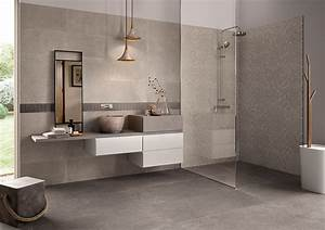 carrelage salle de bain contemporain With carrelage mural pierre salle de bain